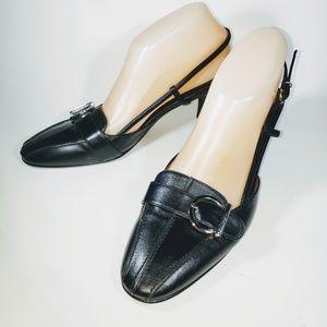 Salvatore Ferragamo Sz 9C Black Slingback Heels